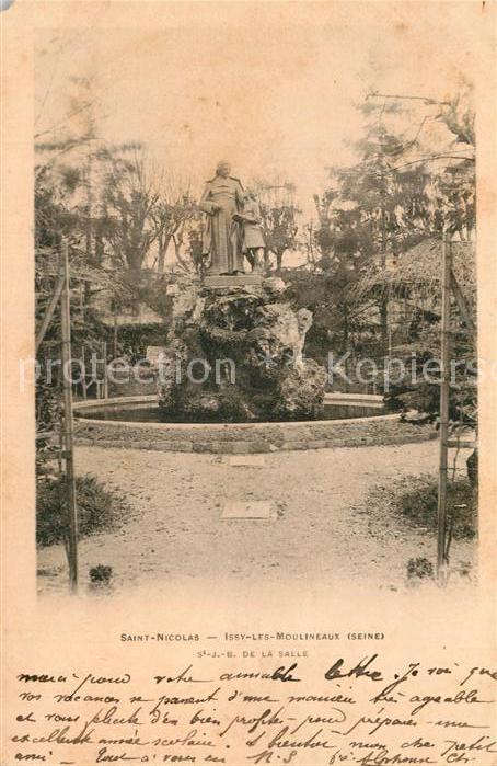 AK / Ansichtskarte Issy les Moulineaux Saint Nicolas Statue Monument Issy les Moulineaux