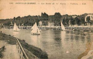 AK / Ansichtskarte Joinville le Pont Les Bords de la Marne Voiliers Joinville le Pont