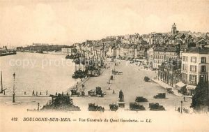 AK / Ansichtskarte Boulogne sur Mer Vue generale du Quai Gambetta Boulogne sur Mer