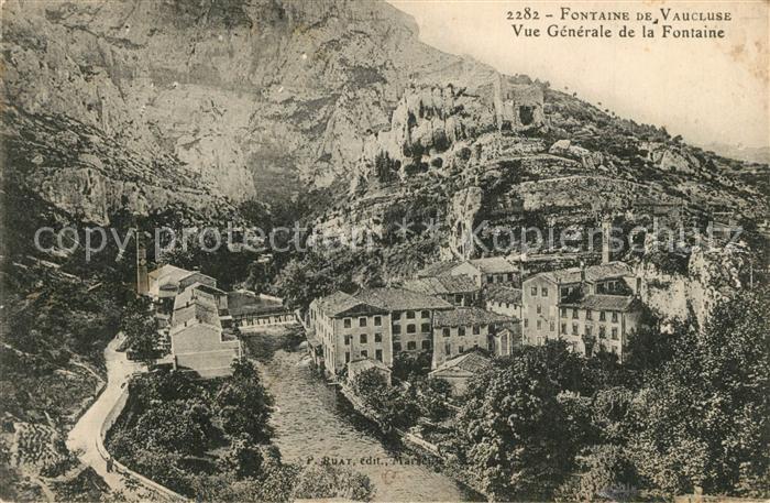 AK / Ansichtskarte Fontaine de Vaucluse Vue generale de la Fontaine Fontaine de Vaucluse