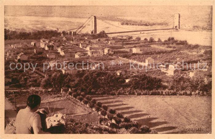 AK / Ansichtskarte Cavaillon Vue generale du Pont et de la Vallee de la Durance Cavaillon