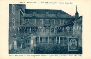 AK / Ansichtskarte Aix les Bains Maison Lamartine Aix les Bains