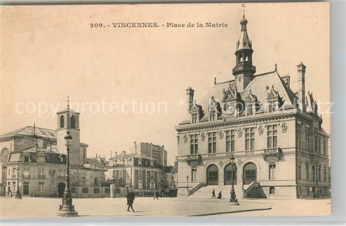 AK / Ansichtskarte Vincennes Place de la Mairie Vincennes