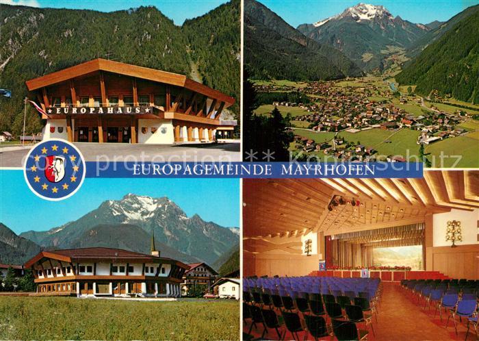 AK / Ansichtskarte Mayrhofen_Zillertal Offizielle Erinnerungskarte zur Einweihung des Kongresszentrum Europahaus Alpenpanorama Mayrhofen_Zillertal