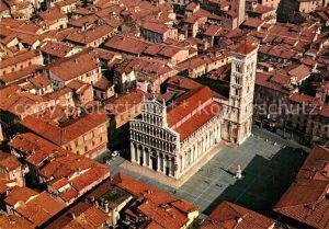 AK / Ansichtskarte Lucca Chiesa San Michele veduta aerea Lucca