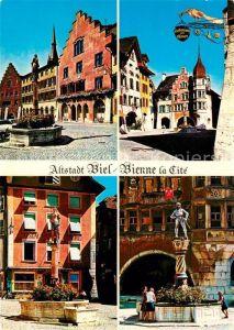 AK / Ansichtskarte Biel_Bienne Altstadt Brunnen Biel Bienne