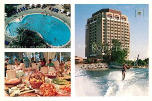AK / Ansichtskarte Sharjah_ Hotel Holiday International Swimming Pool Restaurant Fruehstuecksbuffet Wasserski Sharjah_