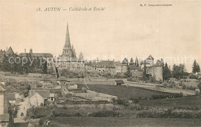 AK / Ansichtskarte Autun Cathedrale  Autun