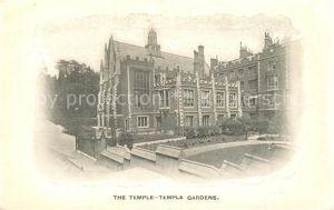 AK / Ansichtskarte London The Temple Temple Gardens London