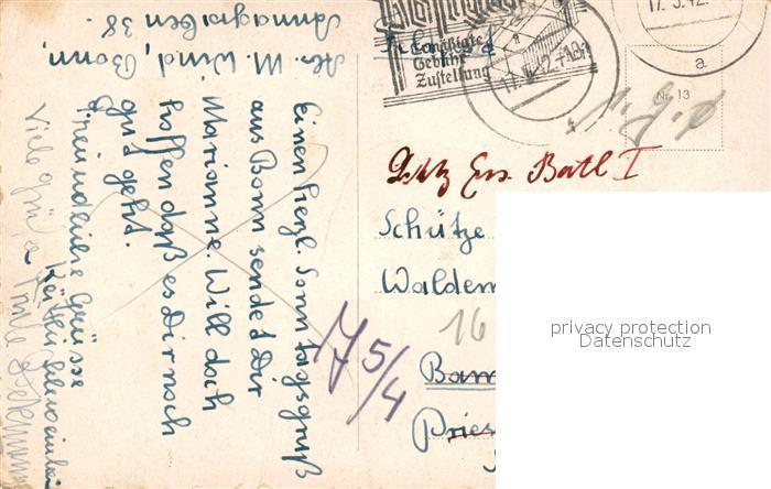 AK / Ansichtskarte Bonn_Rhein Beethovens Geburtshaus Bonn_Rhein 1