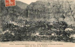 AK / Ansichtskarte Touet_de_Beuil Panorama Groupe Scolaire Touet_de_Beuil