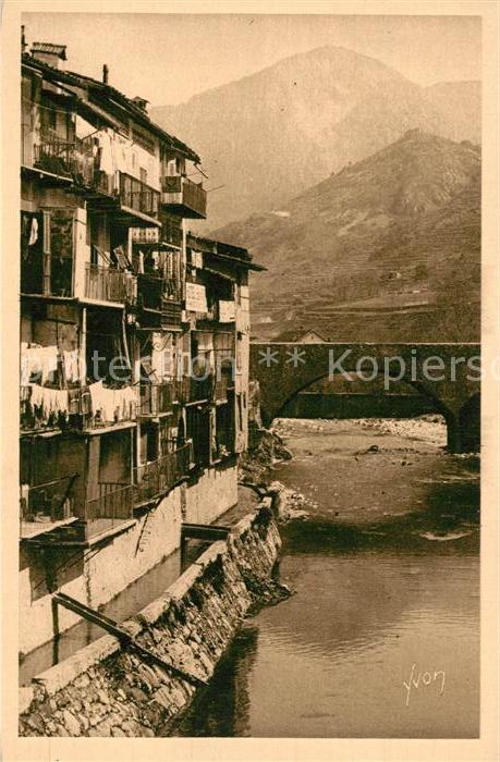 AK / Ansichtskarte Sospel Les vieilles Maisons sur la Bevera Sospel