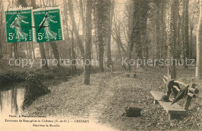 AK / Ansichtskarte Neauphle le Chateau Derriere le Moulin Neauphle le Chateau