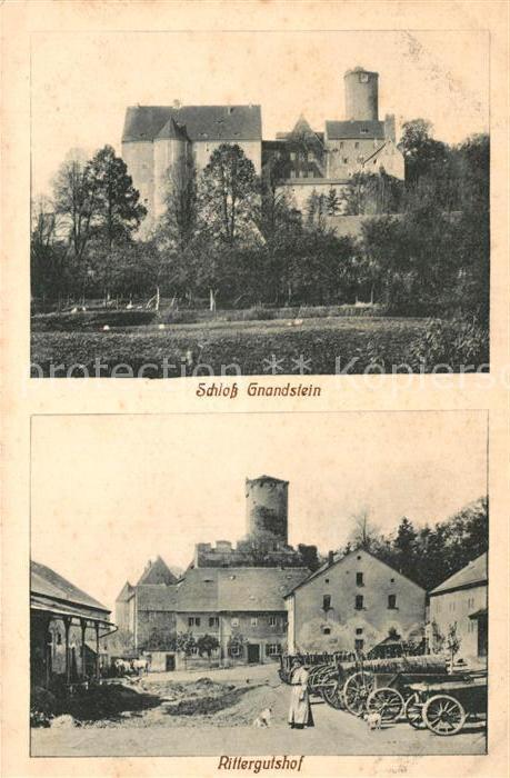 AK / Ansichtskarte Gnandstein Schloss Rittergutshof Gnandstein