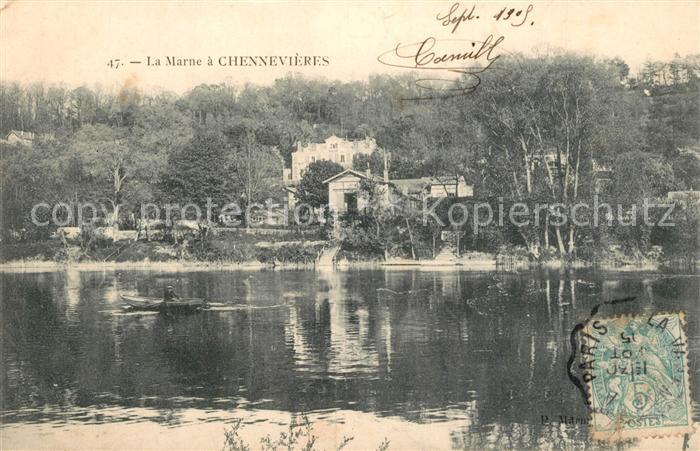 AK / Ansichtskarte Chennevieres sur Marne Aux bords de la Marne Chennevieres sur Marne