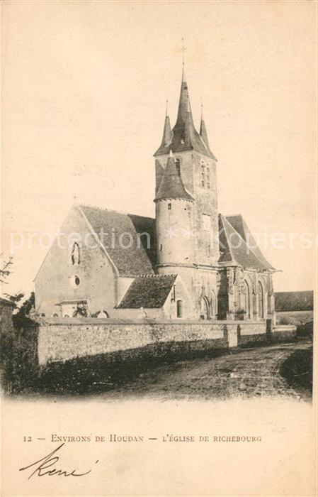 AK / Ansichtskarte Houdan Eglise de Richebourg Houdan