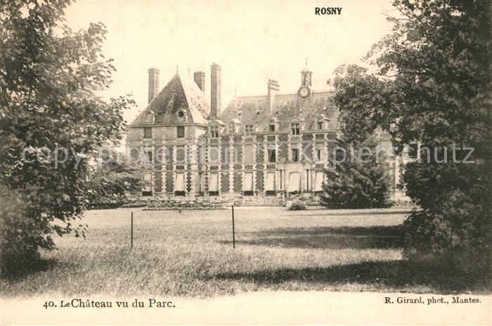 AK / Ansichtskarte Rosny sur Seine Chateau Parc Rosny sur Seine