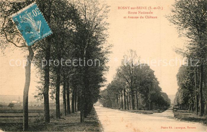 AK / Ansichtskarte Rosny sur Seine Route Nationale Avenue du Chateau Rosny sur Seine
