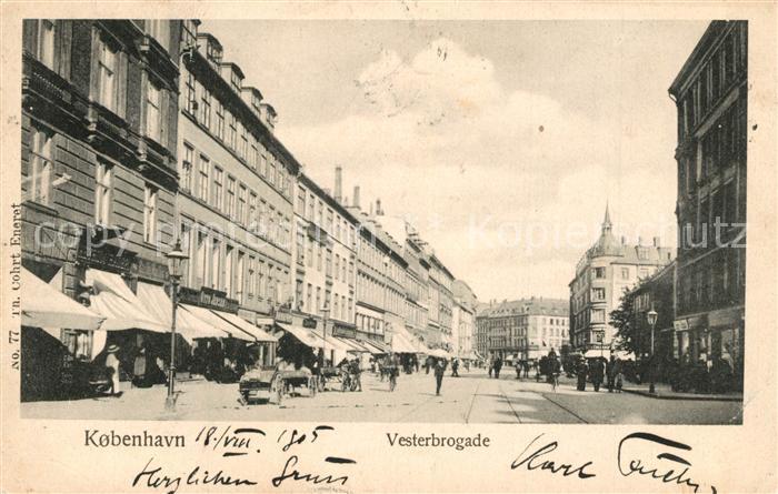 AK / Ansichtskarte Kobenhavn Vesterbrogade Kobenhavn
