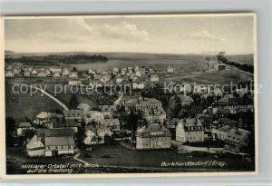 AK / Ansichtskarte Burkhardtsdorf Mittlerer Ortsteil mit Blick auf die Siedlung Burkhardtsdorf