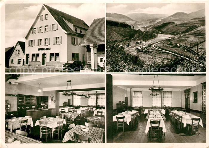AK / Ansichtskarte Eberbach_Odenwald Friedrichsdorf Gasthaus Pension zum Loewen Post Eberbach Odenwald