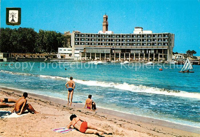AK / Ansichtskarte Alexandria_Alexandrie_Aegypten Hotel Palestine Strand Alexandria_Alexandrie