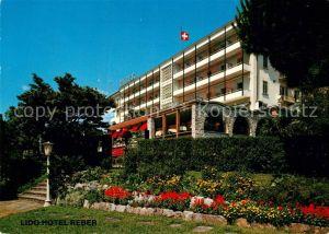 AK / Ansichtskarte Locarno_Lago_Maggiore Hotel Reber au Lac Locarno_Lago_Maggiore