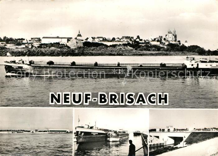 AK / Ansichtskarte Neuf Brisach Le Rhin et l Ecluse Neuf Brisach