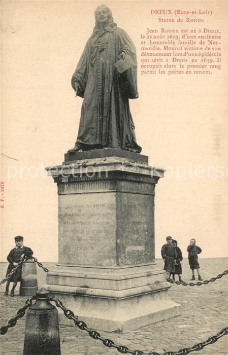 AK / Ansichtskarte Dreux Statue de Rotron Dreux