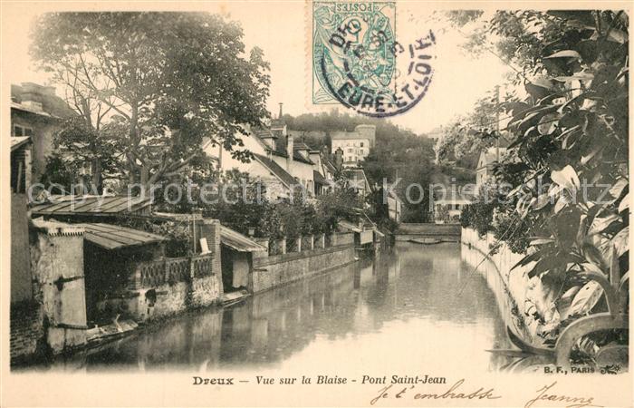 AK / Ansichtskarte Dreux Vue sur la Blaise Pont Saint Jean Dreux