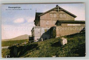 AK / Ansichtskarte Riesengebirge Prinz Heinrich Baude Riesengebirge