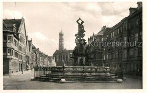 AK / Ansichtskarte Augsburg Maximilianstr mit Herkulesbrunnen und Ulrichsmuenster Augsburg