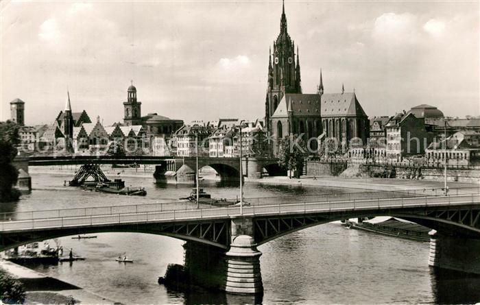 AK / Ansichtskarte Frankfurt_Main mit Dom Paulskirche und Roemer Frankfurt Main