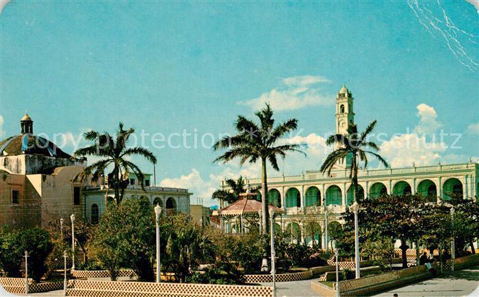 AK / Ansichtskarte Veracruz El Zocalo y el Palacio Municipal de Alvarado Main Square City Hall Veracruz