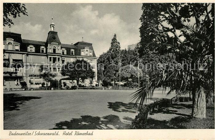 AK / Ansichtskarte Badenweiler Hotel Roemerbad Schwarzwald Badenweiler