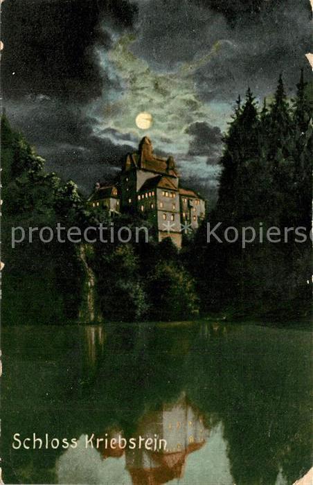 AK / Ansichtskarte Kriebstein Schloss Mondschein Kriebstein