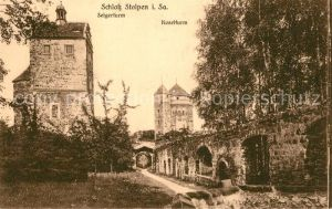 AK / Ansichtskarte Stolpen Schloss Seigerturm Koselturm Stolpen