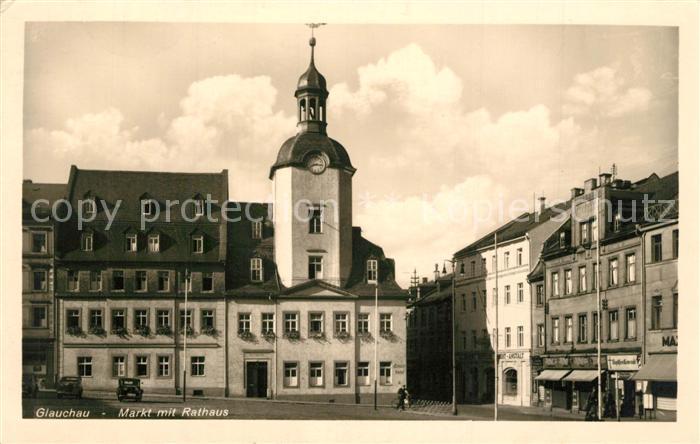 AK / Ansichtskarte Glauchau Markt Rathaus Glauchau 0