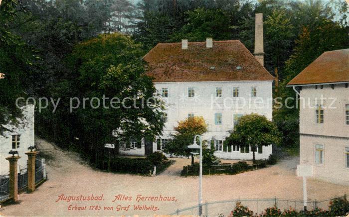 AK / Ansichtskarte Augustusbad Liegau Altes Herrenhaus  Augustusbad Liegau