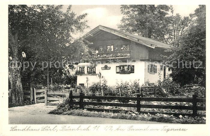 AK / Ansichtskarte Duernbach_Tegernsee Landhaus Laerl Duernbach Tegernsee