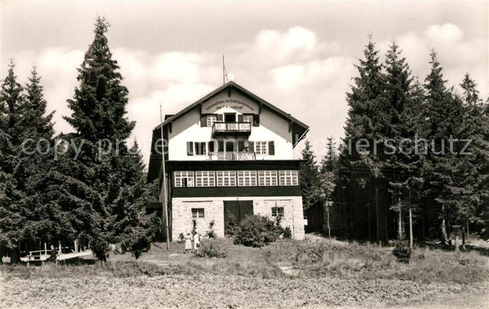 AK / Ansichtskarte Fleckl Fichtelgebirgshaus Ochsenkopf Fleckl