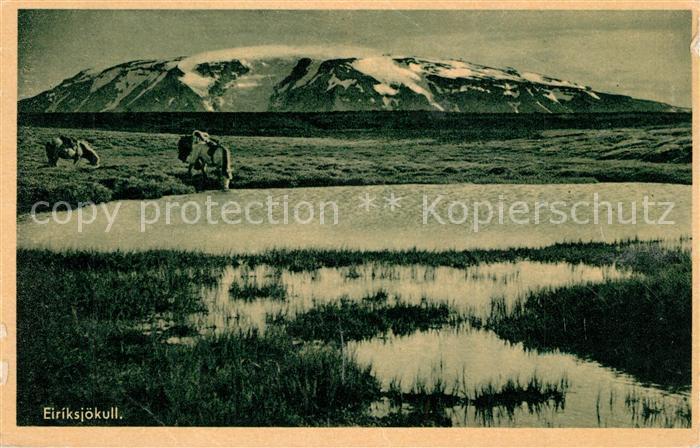 AK / Ansichtskarte Island Eiriksjoekull Island