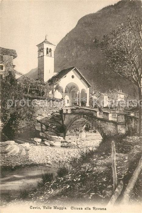 AK / Ansichtskarte Cevio Valle Maggia Chiesa alla Rovana  Cevio