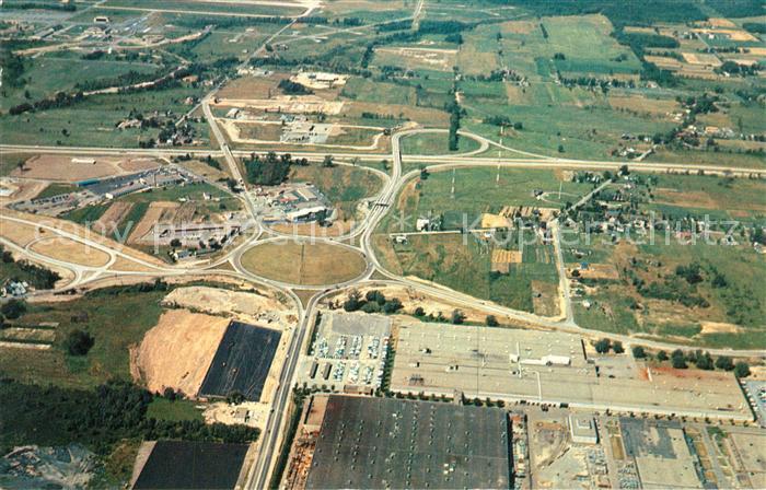 AK / Ansichtskarte Autobahn New York State Thruway Aerial View Syracuse Interchange