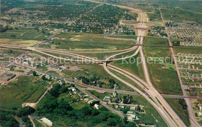 AK / Ansichtskarte Autobahn New York State Thruway Aerial View Niagara Extension Doube Overpass