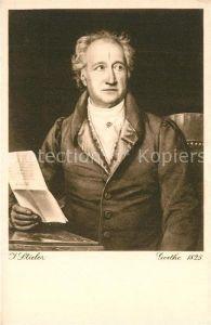 AK / Ansichtskarte Goethe_Johann_Wolfgang_von Kuenstlerkarte J. Stieler