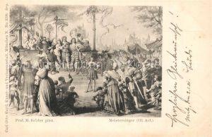 AK / Ansichtskarte Kuenstlerkarte M. Echter Meistersinger