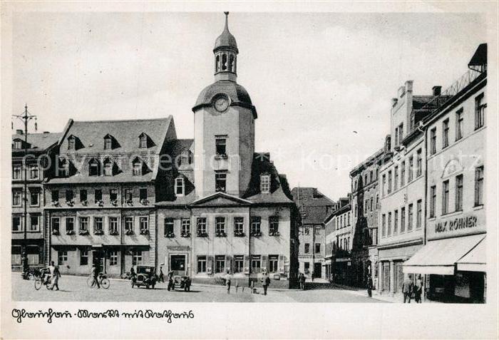 AK / Ansichtskarte Glauchau Markt Rathaus Glauchau