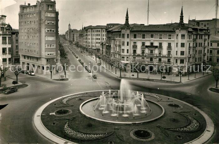AK / Ansichtskarte Pamplona_Navarra Plaza del principe General Franco Pamplona Navarra
