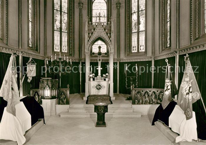 AK / Ansichtskarte Burg_Hohenzollern Ev Kapelle mit den Saergen Friedrich Wilhelm I und Friedrich des Grossen Burg_Hohenzollern